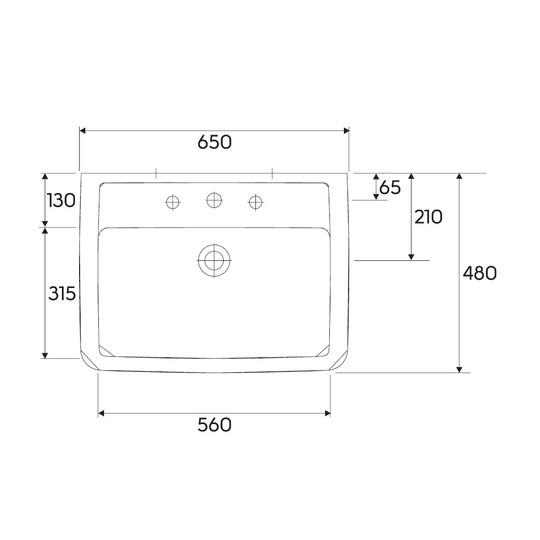 umywalka 65x48cm renova nr 1 plan keratect keramag. Black Bedroom Furniture Sets. Home Design Ideas