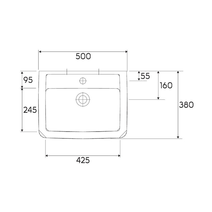 umywalka 50x38cm renova nr 1 plan keramag sklep. Black Bedroom Furniture Sets. Home Design Ideas