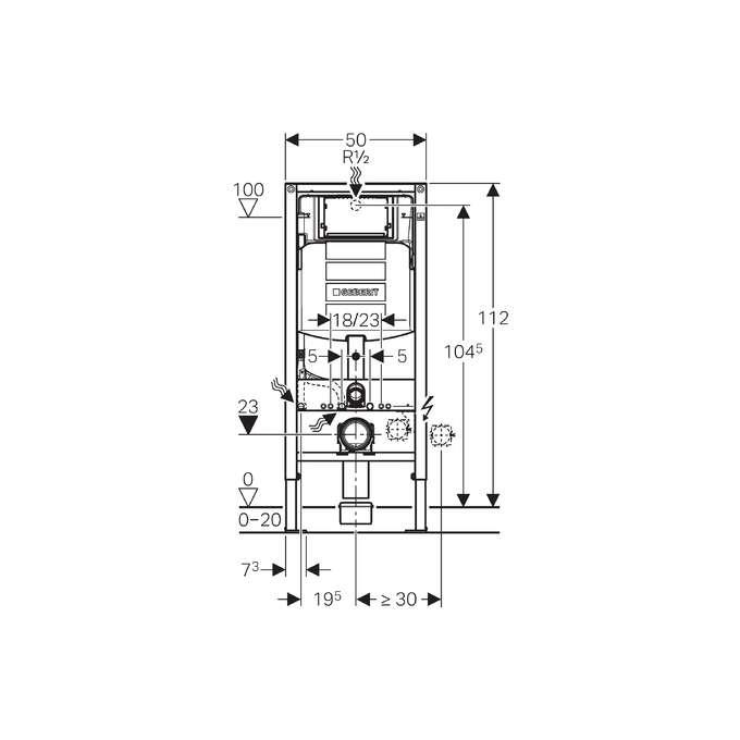 stela monta owy do wc sigma up320 h112 geberit duofix sklep. Black Bedroom Furniture Sets. Home Design Ideas